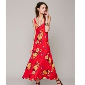 Free people intimately floral slip maxi dress